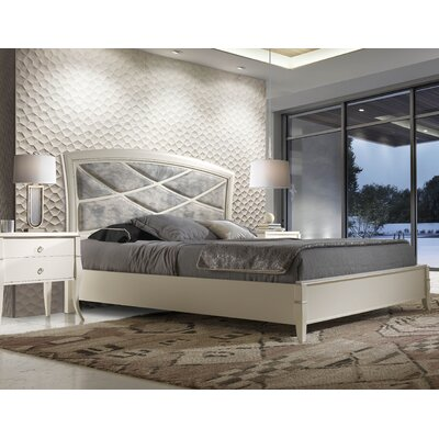 Ossett Upholstered Panel Bed Size: King
