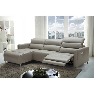 Cragin Leather Sectional Orientation: Left Hand Facing
