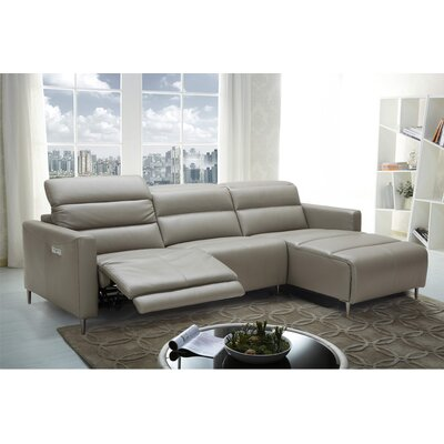 Cragin Leather Sectional Orientation: Right Hand Facing