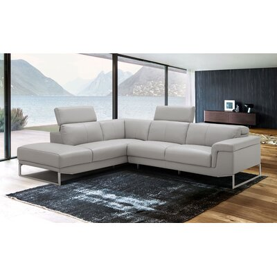 Baver Leather Sectional Orientation: Left Hand Facing