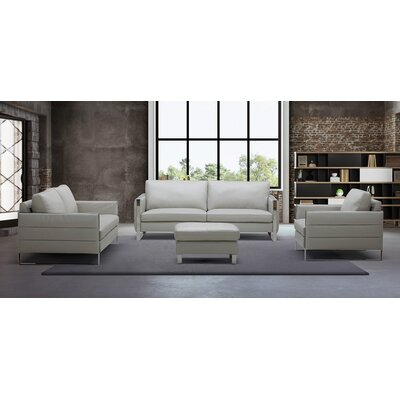 Hewins Leather Configurable Living Room Set