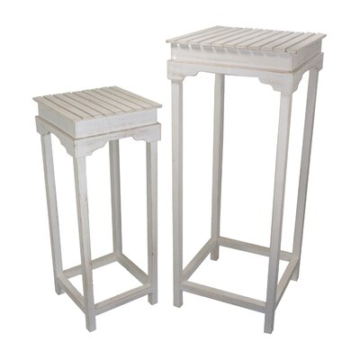 2 Piece Nightstand Set Finish: Cream