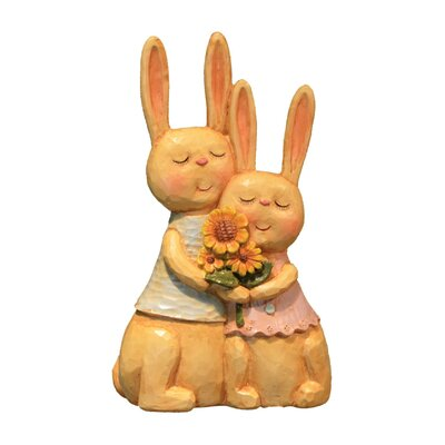 Garden Bunny Couple Figurine RB124 MIXED