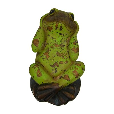 Hear-No-Evil Frog Figurine