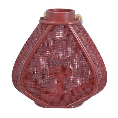 Decorative Heart Lantern Color: Red