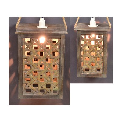 2 Piece Hanging Light Set Color: Natural