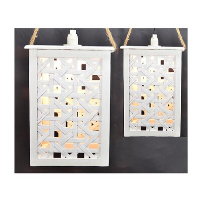 2 Piece Hanging Light Set Finish: Cream