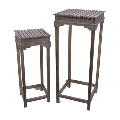 2 Piece Nightstand Set Color: Natural