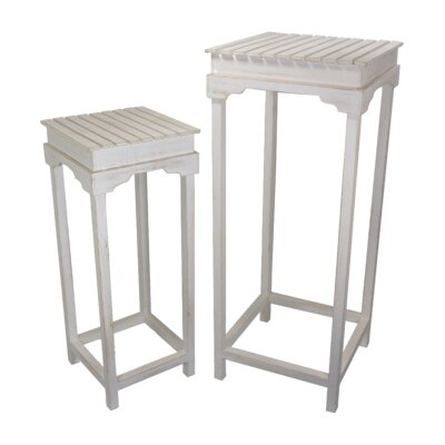 2 Piece Nightstand Set Color: Cream