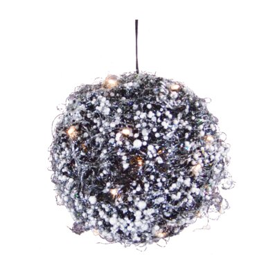 Berry Twig Ball Christmas Ornament with Light