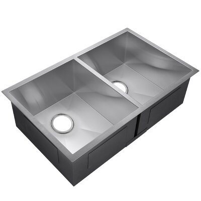 33 x 22 Double Basin Undermount Kitchen Sink
