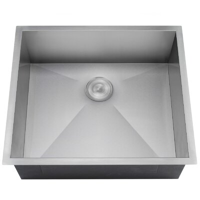22 x 23 Undermount Kitchen Sink with Dish Grid and Drain Strainer Kit