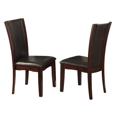 Camelia Side Chair Upholstery: Espresso