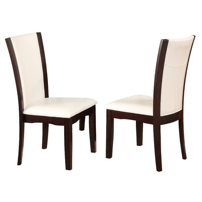 Camelia Side Chair Upholstery: White