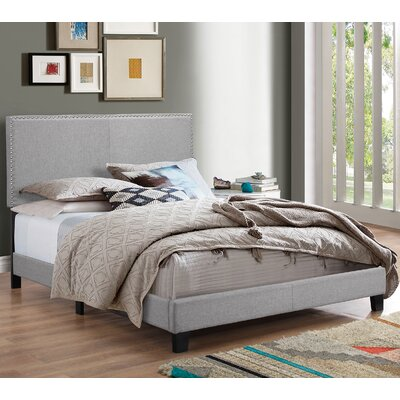 Erin Upholstered Panel Bed Size: King