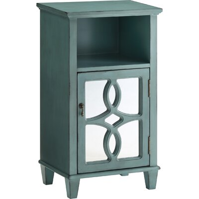 Maisie End Table With Storage Color: Aqua