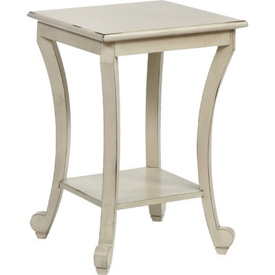 Claire End Table Color: Ivory