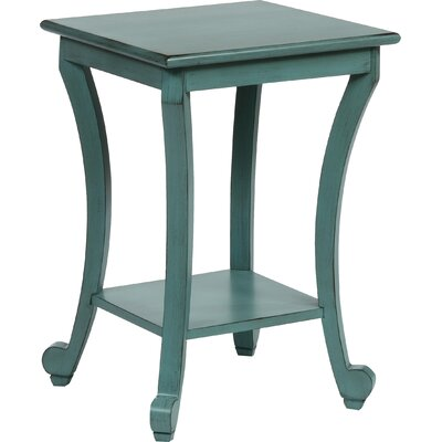 Claire End Table Color: Aqua