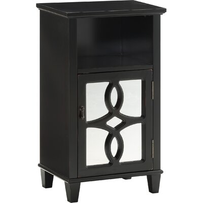 Maisie End Table With Storage Color: Black