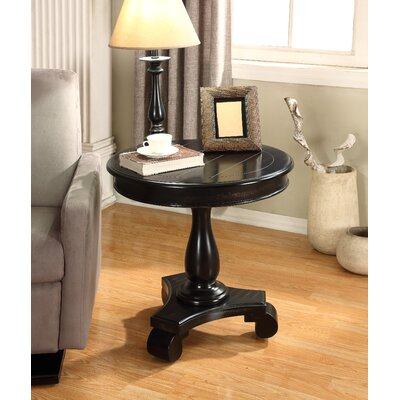 Constance Round End Table Color: Black