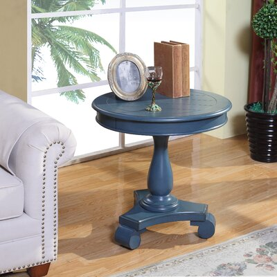 Constance Round End Table Color: Blue