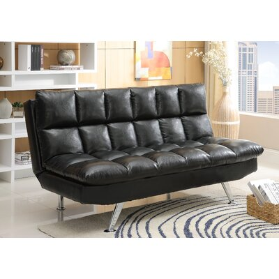 Sundown Convertible Sofa Upholstery: Black