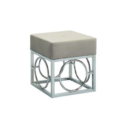 Kellerman Cube Ottoman Upholstery: Gray