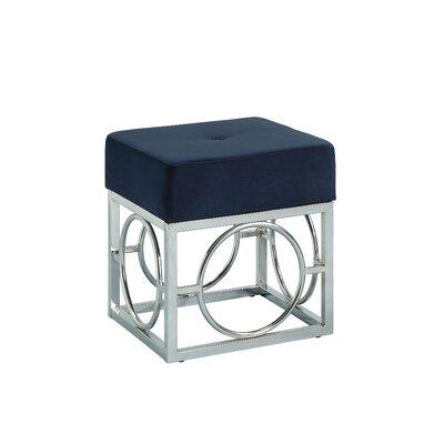 Kellerman Cube Ottoman Upholstery: Navy