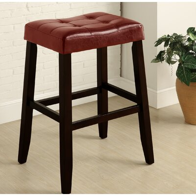 Lyndale Saddle 29 Bar Stool Upholstery: Red