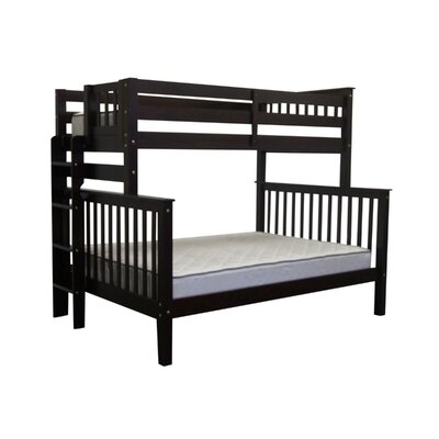 Mission Twin over Full Bunk Bed Color: Cappuccino