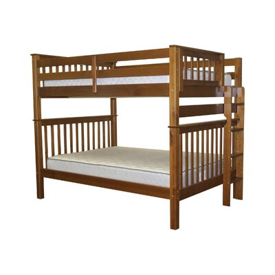 Mission Full over Full Bunk Bed Bed Frame Color: Espresso
