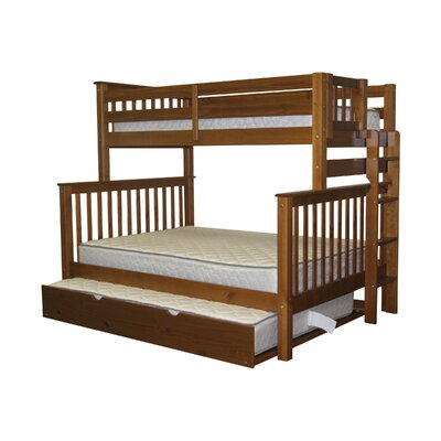 Mission Twin over Full Bunk Bed with Full Trundle Finish: Espresso