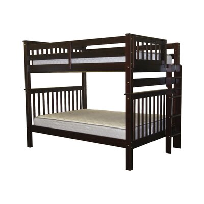 Mission Full over Full Bunk Bed Finish: Cappuccino