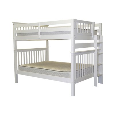 Mission Full over Full Bunk Bed Bed Frame Color: White