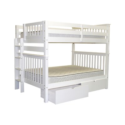 Mission Twin over Full Bunk Bed with Storage Finish: White