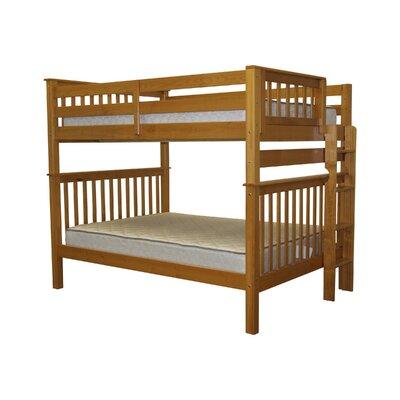 Mission Full over Full Bunk Bed Bed Frame Color: Honey