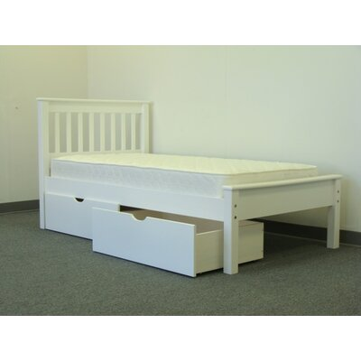 Mission Twin Low Loft Bed with Storage Finish: White