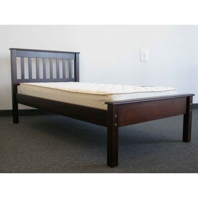 Mission Twin Slat Bed Color: Cappuccino