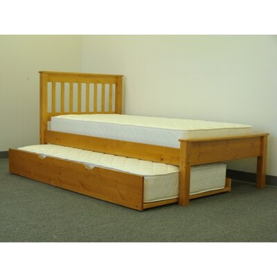 Mission Twin low Loft Bed with Trundle Finish: Honey