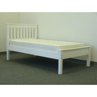 Mission Twin Slat Bed Finish: White