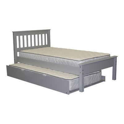 Mission Twin low Loft Bed with Trundle Finish: Gray
