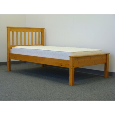 Mission Twin Slat Bed Finish: Honey