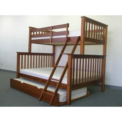 Mission Twin over Full Bunk Bed with Trundle Finish: Espresso