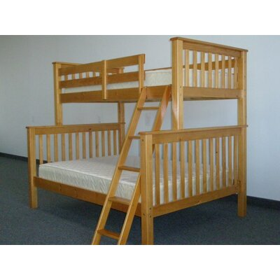 Mission Twin Over Full Bunk Bed Finish: Honey
