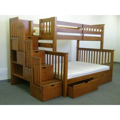 Stairway Twin over Full Bunk Bed with Storage Finish: Espresso