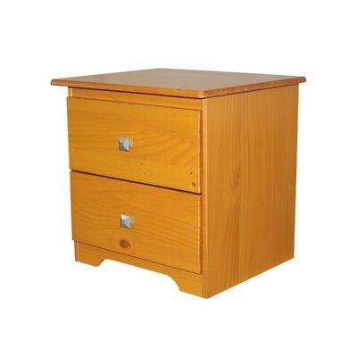 2 Drawer Nightstand Finish: Honey