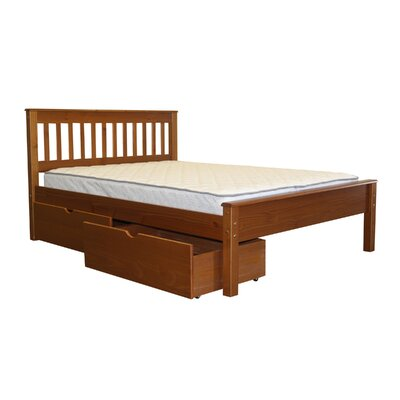 Mission Full Slat Bed with Storage Bed Frame Color: Espresso