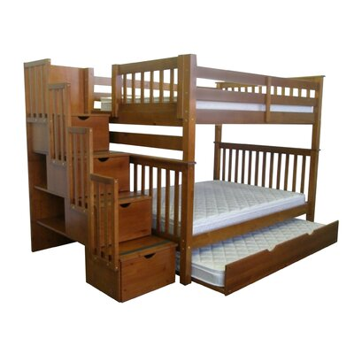 Tall Full over Full Bunk Bed with Trundle