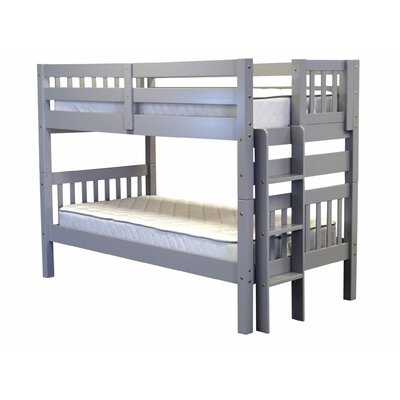 Mission Twin over Twin Bunk Bed Color: Gray