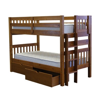Mission Twin over Twin Bunk Bed with Storage Finish: Espresso
